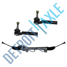 Power Steering Rack And Pinion Assembly +New Outer Tie Rods Silverado Sierra 2WD