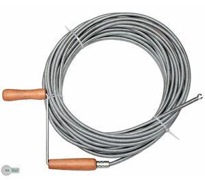 Rohrreinigungswelle Rohrreinigungsspirale 3 - 20 m D. 9 mm Spirale Rohrreiniger.