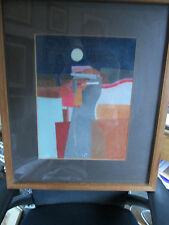 Original Painting  by Famed Mexican Modernist Humberto Tezcucano Tamayo