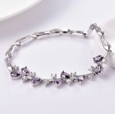 Simulated Chain Amethyst Fashion Bracelets