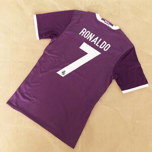 Real Madrid 2016-17 Vintage Classic Soccer Jersey #7 RONALDO Men Size [XL]