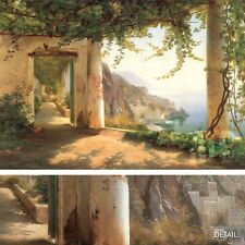 """40W""""x27H"""" VIEW TO THE AMALFI COAST by CARL F. AAGAARD - MOUNTAIN VIEW CANVAS"""