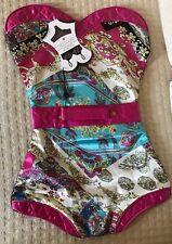 PurseN Ooh-La-La Lingerie Travel Bag Packing Accessory Pink Blue Paisley New