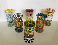 Mackenzie Childs Courtly Circus Check and Other Misc Parfait Glasses