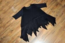 LOOK a strati raffinato EXTRA LARGE tunica Punte BLACK 44,46,48,50,52,54 /