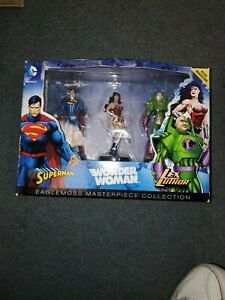 Eaglemoss Masterpiece Collection Superman Wonder Woman Lex Luthor Figure Set