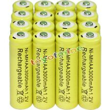 16x AA battery batteries Bulk Nickel Hydride Rechargeable NI-MH 3000mAh 1.2V Yel