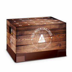 Adventskalender Aufsatz Bierkasten Männer Kalender Weihnachten Geschenkidee Holz