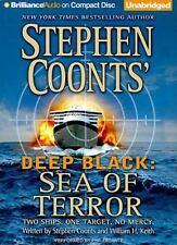 DEEP BLACK SEA OF TERROR unabridged audio book CD by STEPHEN COONTS - Brand New!