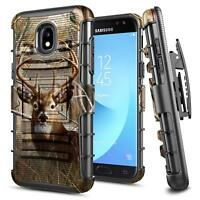 For Samsung Galaxy J7V 2nd Gen Case Shockproof Belt Clip Holster Kickstand Cover