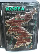 Korea Map on Babco Bilfold wallet No 888 Genuine Leather