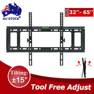 TV Wall Mount Bracket Tilt Slim LCD LED VESA 32 40 42 47 50 55 60 62 65 inch AU