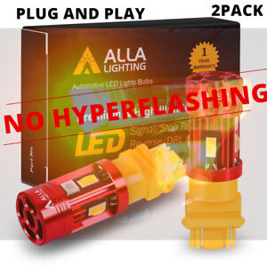 LED Amber Plug&Play 4157 CANBUS Turn Signal Lamp,NO Need Resistor/Flasher Relay