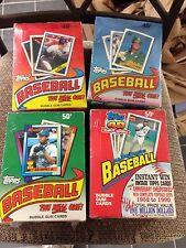 4 WAX BOX LOT TOPPS 1988 1989 1990 1991 UNOPENED BASEBALL CARDS 36 PACKS PER