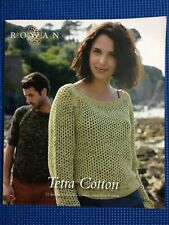 Rowan Knitting Pattern Book  'Tetra Cotton' 12 designs to create