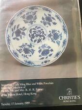 CHRISTIE'S HK CHINESE CERAMICS MING PORCELAIN Palmer Coll Jan 17, 1989