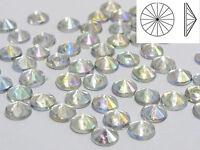 1000 Clear AB Acrylic Round Rivoli Flatback Rhinestone Gems 5mm Cone Shaped