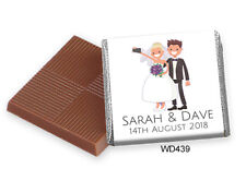 """50 Personalised Chocolate Favours, """"NEW"""" """"LATEST SELFIE DESIGN"""" WD439"""