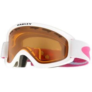 Oakley 59-096 O2 XS White Pebble Stones w/ Persimmon Kids Girls Snow Goggles