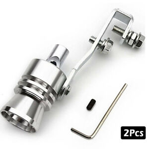 2Pcs Turbo Sound Whistle Muffler Exhaust Pipe Simulator Whistler fit Ford Benz