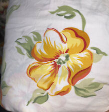 Pottery Barn Twin Duvet Cover Lovely - Flowers, Floral Orange Yellow Green