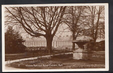 Somerset Postcard - Victoria Park and Royal Crescent, Bath    RS4550