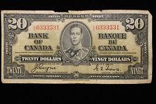1937 Canada. ($20) Twenty Dollars. Series L/E. Coyne-Towers.