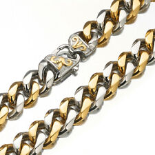Steel 24 inches 15mm Silver Gold Curb Chain Necklace for men 316L Stainless