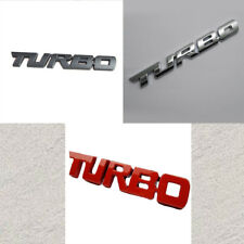 3D TURBO Words Sports Car Sticker Metal Chrome Emblem Rear Trunk Badge 9.7X1.1cm