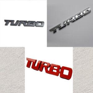 3D TURBO Words Sports Car Sticker Metal Chrome Emblem Rear Trunk Badge 9.7X1.1cm