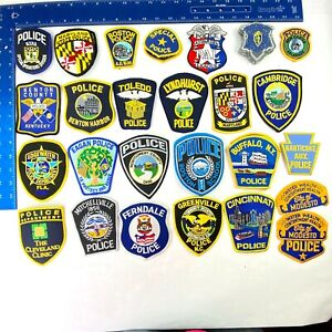 Miscellaneous US Police Patch Collection Lot of 57 New and Used