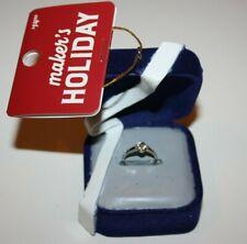 Maker's Holiday Ring Box Diamond Engagement Wedding Bride Christmas Ornament Nwt