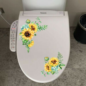 Waterproof Removable Sunflower Wall Stickers Kitchen PVC Decals Bathroom Decor