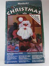 "WonderArt Christmas K200 20 Ounce Bottle Santa Claus Yarn Felt Craft Kit New 11"""