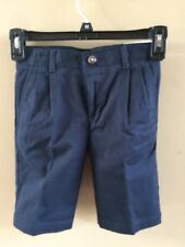 Boys' Chaps Approved Schoolwear Pleated Navy Twill Shorts, Size 5 Regular - NWT