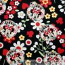 BonEful Fabric FQ Cotton Quilt White Red Disney Minnie Mouse Daisy Flower Dot Lg
