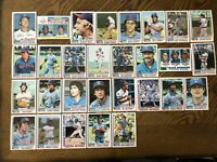1982 TEXAS RANGERS Topps COMPLETE MLB Card Team Set 29 Cards RIVERS OLIVER BELL!