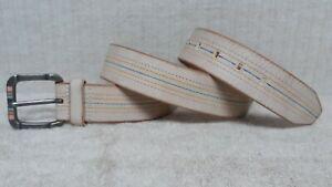 FOSSIL - Women's Belt - BEIGE - Leather - VINTAGE LOOK - Size M