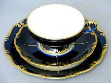 KPM Royal Ivory cobalto oro posto a tavola 3 pezzi raccoglie assi PEZZO VETRINA PER 1934