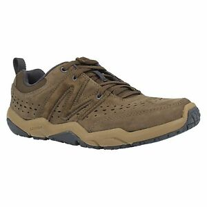 MENS MERRELL SKYLARK COFFEE LEATHER LACE UP CASUAL TRAINERS PERFORMANCE SHOES
