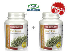 Iron 14mg BUNDLE DEAL 120+120 (240) Tablets | May Help Tiredness Fatigue Anaemia