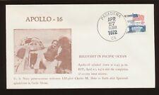 Apollo 16 Recovery in Pacific Ocean - pmk Padadena CA Apr 27, 1972