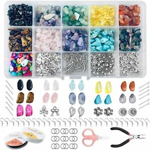Crystal Beads For Jewelry Making 840 Pcs Irregular Chips Natural Stone Beads Kit