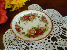 ROYAL ALBERT OLD COUNTRY ROSES  ENGLAND 1962 BUTTER DISH  EXCELLENT CONDITION