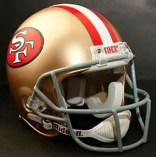 "SAN FRANCISCO 49ers ***MINI*** Football Helmet Nameplate ""49ers"" Decal/Sticker"