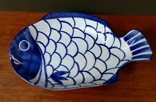 Dansk Arabesque Fish Bowl/Plate/Platter - Blue & White - Highly Collectible!