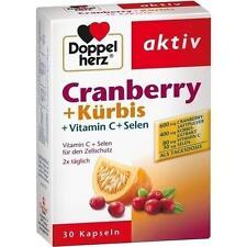 DOPPELHERZ Cranberry+Kürbis Kapseln 30 St PZN 6445453