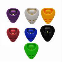 10X Colorful Plactic Guitar Pick Plectrum Holder Case Box Portable Heart Shape