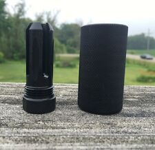 """1/2-28 Muzzle Brake W/ 13/16""""x16 Threaded Outer Sleeve(2.325"""" Long) PRONG #S1"""