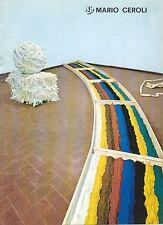 CEROLI Mario, Mario Ceroli. Galleria de' Foscherari 1970